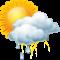 Teils bewölkt mit starken Regenschauern