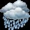 Bedeckt mit mäßigem Regen