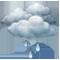 Bedeckt mit leichtem Regen