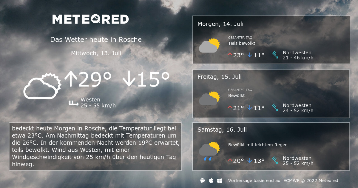 Wetter Rosche 14 Tage - daswetter.com