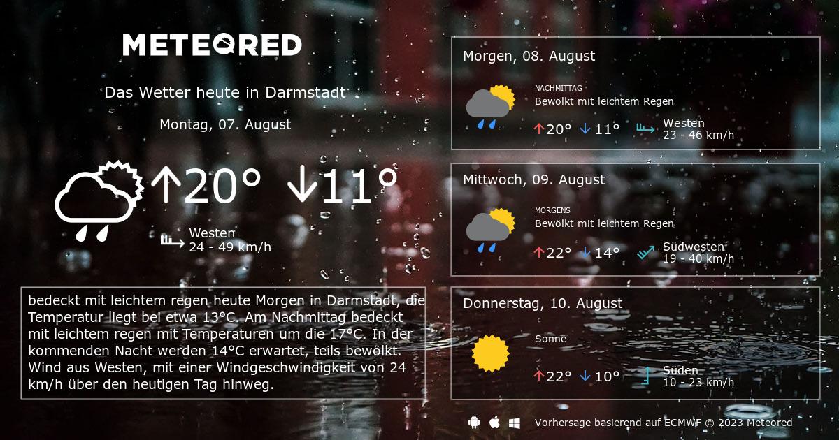 Wetter Darmstadt Samstag