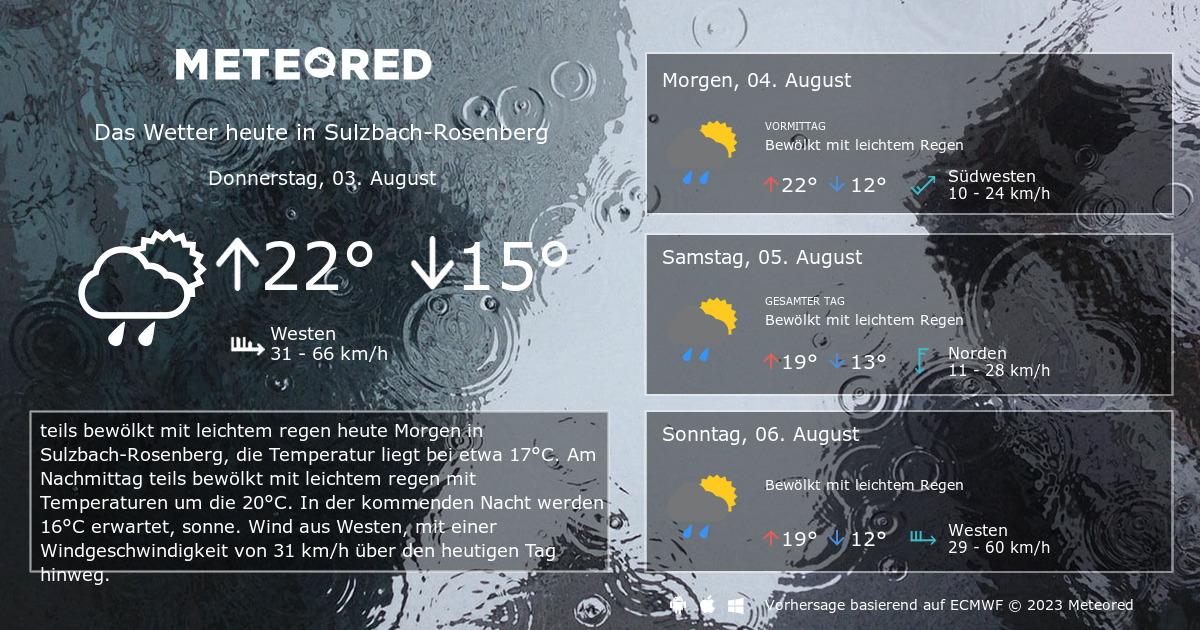 wetter sulzbach-rosenberg 7 tage