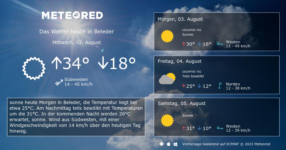 Wetter Beleder 14 Tage Daswettercom