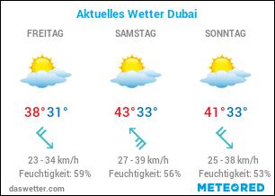 Aktuelles Wetter Dubai
