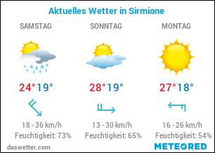 Wetterkarte für Sirmione, Gardasee