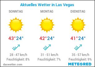 Wie ist das aktuelle Wetter in Las Vegas?