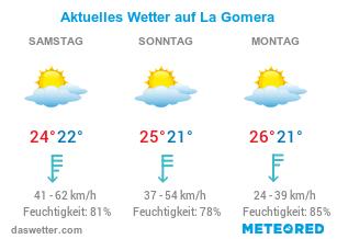 La Gomera Wetter