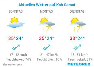 Wetterkarte für Koh Samui