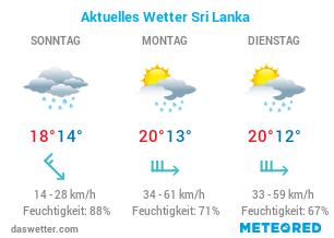 Wie ist das aktuelle Wetter auf Sri Lanka?