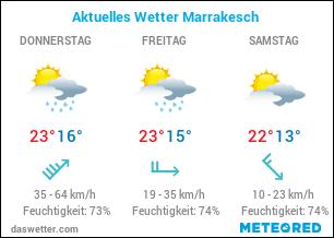 Aktuelles Wetter Marrakesch