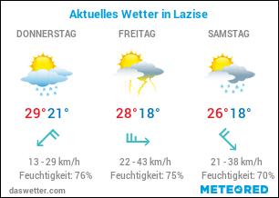 Wetterkarte für Lazise, Gardasee