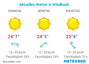Wie ist das aktuelle Wetter in Windhoek?