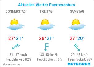 Aktuelles Wetter Fuerteventura