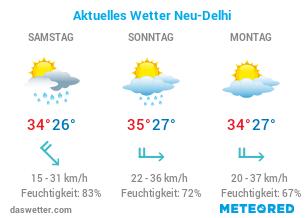 Aktuelles Wetter in Neu-Delhi, Indien